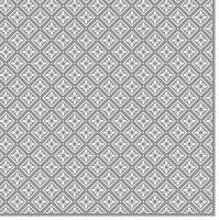 Napkins 33x33 cm - Geometric Tiles Silver