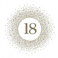 Napkins 33x33 cm - 18 Golden Dots