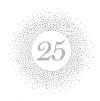 Tovaglioli 33x33 cm - 25 Silver Dots
