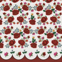 Napkins 33x33 cm - Roses Embroidery Pattern