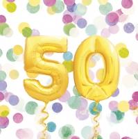Tovaglioli 33x33 cm - 50th Birthday