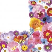 Napkins 33x33 cm - Spring Floral Composition