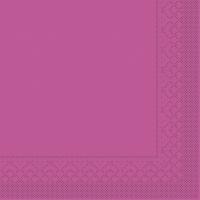 Tovaglioli in tessuto 33x33 cm - BASIC  VIOLETT  33x33 cm 1/4 Falz