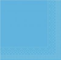 Tovaglioli in tessuto 33x33 cm - BASIC  AQUA-BLAU  33x33 cm 1/4-Falz