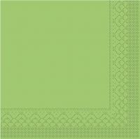Tovaglioli in tessuto 33x33 cm - BASIC  KIWI  33x33 cm 1/4-Falz