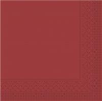 Tissue napkins 33x33 cm - BASIC  BORDEAUX  33x33 cm 1/4-Falz