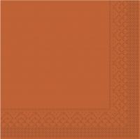 Tissue napkins 33x33 cm - BASIC  TERRAKOTTA  33x33 cm 1/4 Falz