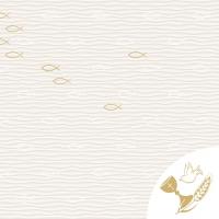 Tovaglioli in vetroresina 40x40 cm - Kommunion/Konfirmation  (Fische)