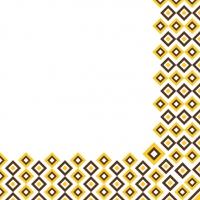 Tovaglioli in vetroresina 40x40 cm - Art-Deco  (senfgelb/braun)