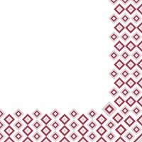 Tovaglioli in vetroresina 40x40 cm - Art-Deco  (bordeaux/grau)