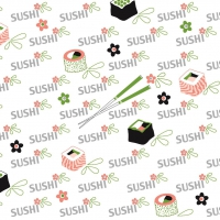 Serwetki Linclass 40x40 cm - Sushi