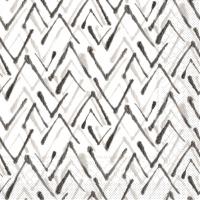 Tovaglioli in tessuto 33x33 cm - ZACK  (grau/schwarz)