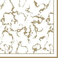 Serviettes 33x33 cm - Marble gold