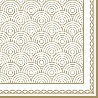 Serviettes 33x33 cm - Ornamentation gold