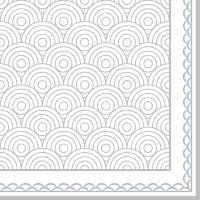 Serviettes 33x33 cm - Ornamentation silver