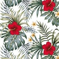 Serviettes 33x33 cm - Hibiscus