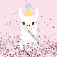 Serviettes 33x33 cm - Llama Party