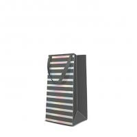 10 gift bags - Reflex Stripes  grey