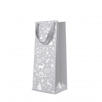 10 gift bags - Celebrate Christmas silver