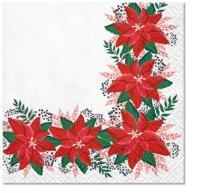 Serwetki 25x25 cm - Lovely Poinsettia