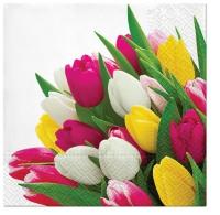 Serviettes 25x25 cm - Bunch of Tulips