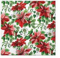 Servietten 25x25 cm - Glory Poinsettia