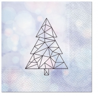 Napkins 33x33 cm - Geometric Tree