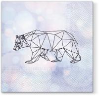 Napkins 33x33 cm - Geometric Bear