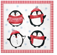 Servilletas 33x33 cm - Little Pinguins