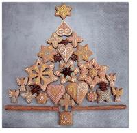 Serviettes 33x33 cm - Gingerbread Tree