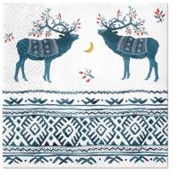 Serviettes 33x33 cm - Ethno Deers