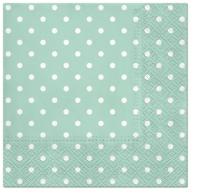 Napkins 33x33 cm - Dots mint