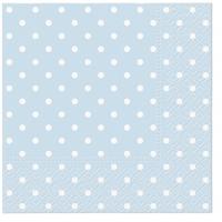 Napkins 33x33 cm - Dots (light blue)