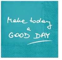 Napkins 33x33 cm - Good Day (turquoise)