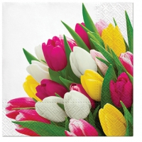 Serviettes 33x33 cm - Bunch of Tulips
