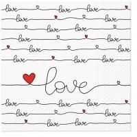 Serwetki 33x33 cm - Love Connection