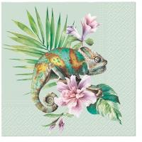 Serwetki 33x33 cm - Exotic Chameleon