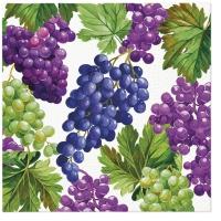 Serviettes 33x33 cm - Natural Grapes