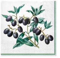 Serviettes 33x33 cm - Olives with Frame