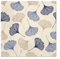 Napkins 33x33 cm - Gingko Leaves