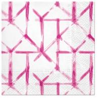 Napkins 33x33 cm - Watercolor Grid (pink)