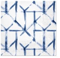 Napkins 33x33 cm - Watercolor Grid (blue)