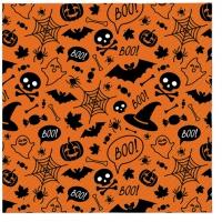 Servietten 33x33 cm - Halloween Pattern (orange)