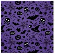Servietten 33x33 cm - Halloween Pattern (violet)