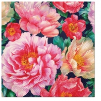 Napkins 33x33 cm - Peonies Bloom