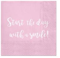 Napkins 33x33 cm - Smile Everyday