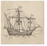 Napkins 33x33 cm - Sailing Ship