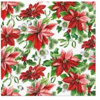 Serwetki 33x33 cm - Glory Poinsettia