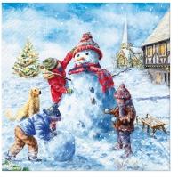 Napkins 33x33 cm - Snowman Fun