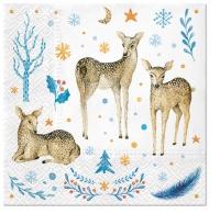 Napkins 33x33 cm - Reindeer Family